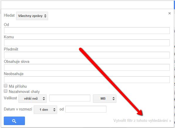 Nastavení filtrů pro Gmail
