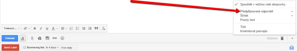 Předpřipravené zprávy v Gmailu