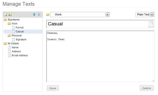 Rozšíření Insert Text pro Chrome