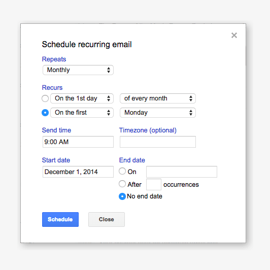 recurring-emails