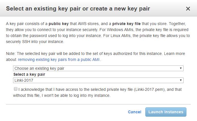 Získání hesla pro server na AWS.