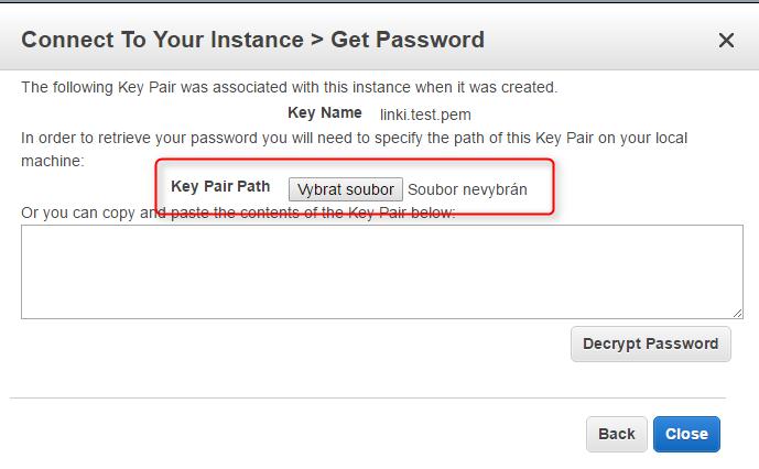 Získejte heslo ze svého .pem souboru